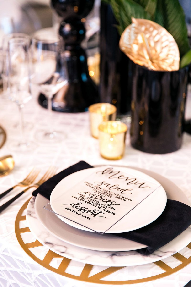 Clear Menu Card to Complete Modern Tablescape