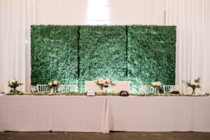 Wedding Reception Head Table Decor